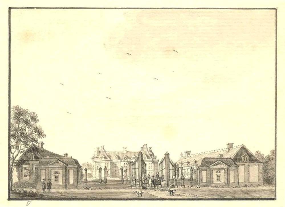 Kasteel Slangenburg in Doetinchem. Tekening Jan de Beijer, 1743